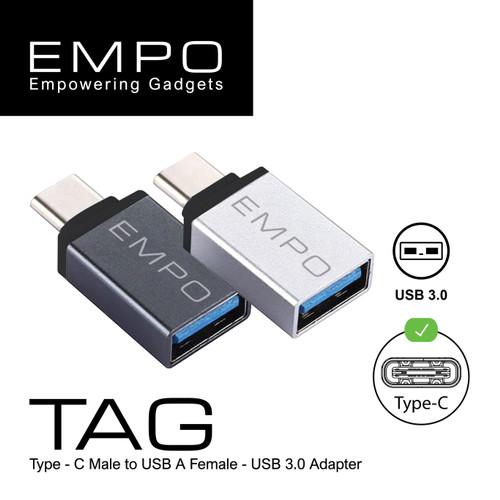 Foto Produk EMPO TAG OTG USB 3.0 to Type - C Konektor Kabel Sambungan Grey dari EMPO