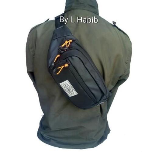Foto Produk tas waistbag waist bag pria Gearbag semi kulit - Hitam dari L Habib