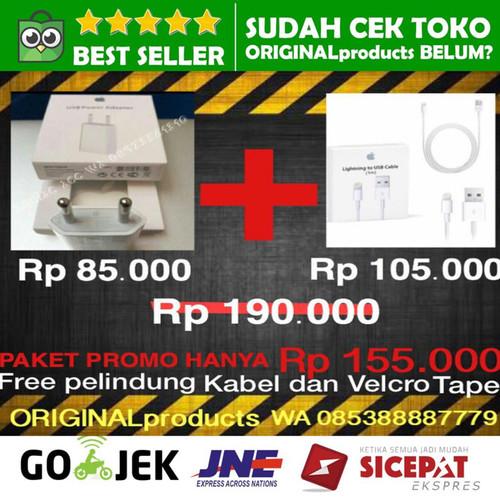 Foto Produk CHARGER KABEL DATA IPHONE 6 7 8 5 6s 7+ plus X xs max ORIGINAL Apple dari ORIGINALproducts JAKARTA