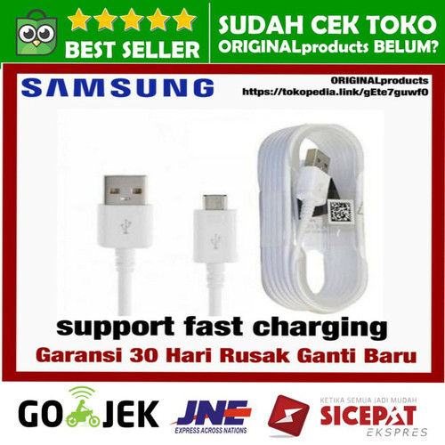Foto Produk charger kabel data micro usb samsung note 4 grand a5 s4 s5 s6 s7 edge dari ORIGINALproducts JAKARTA