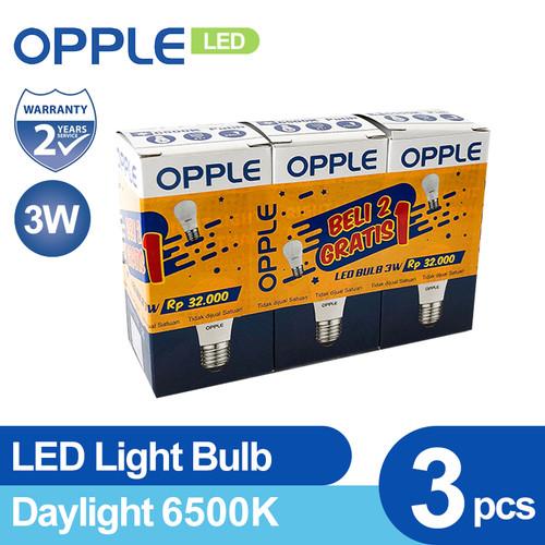 Foto Produk OPPLE LED EcoMax Bulb 3 Watt ( Special Pack 2 FREE 1) - Kuning dari Opple Official Store