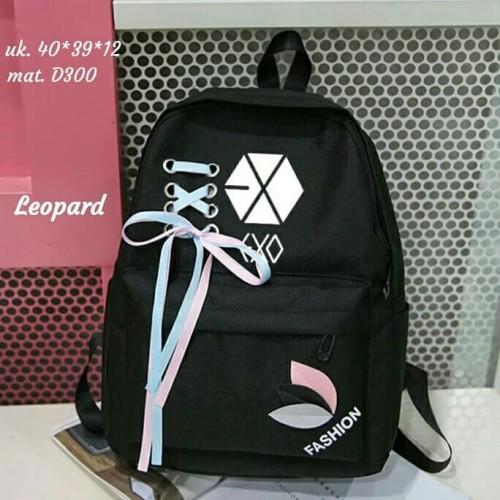 Foto Produk Backpack Korean EXO pita Tas Ransel Sekolah Murah Tas Ransel Wanita dari SUPERSTORE1