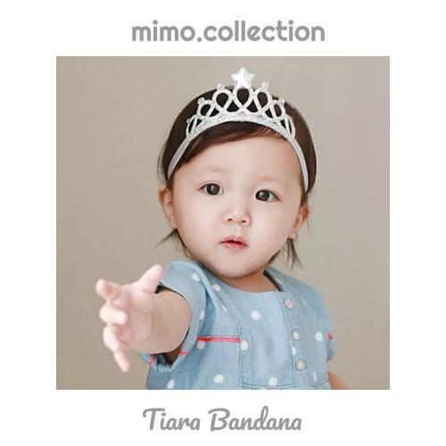 Foto Produk Tiara bandana bayi mahkota Crown baby headband bando anak - Gold dari Mimo collection