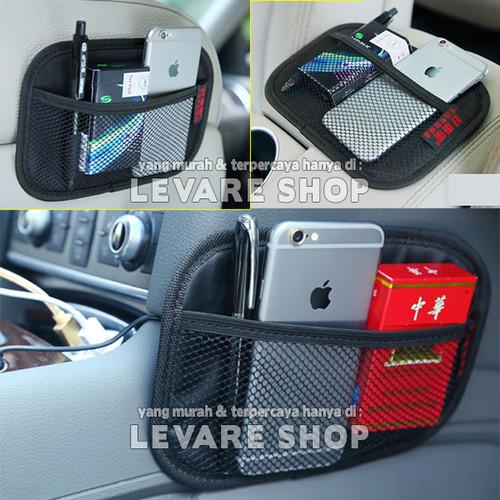 Foto Produk Car Storage Organizer Kantong di Mobil - Net Pocket Tempat HP dll (M) dari Levare Shop