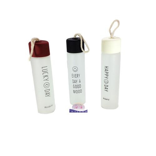 Foto Produk BOTOL MINUM KACA - BOTOL MINUM + FREE BUBBLE WARP - Putih dari sinar arjuna