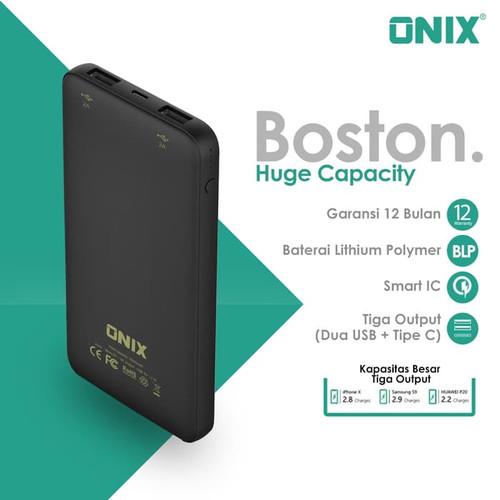 Foto Produk Onix Powerbank Boston -Real 10000mAh Dual Output USB & Micro Input USB dari Onix Electronic