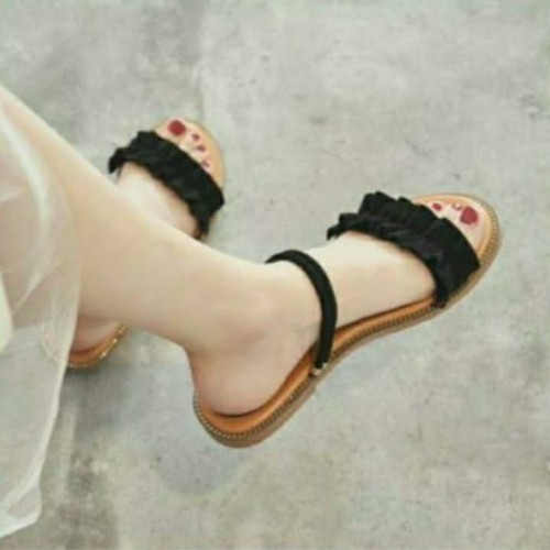 Foto Produk ribbon flat tali - Hitam, 39 dari efraim shoes