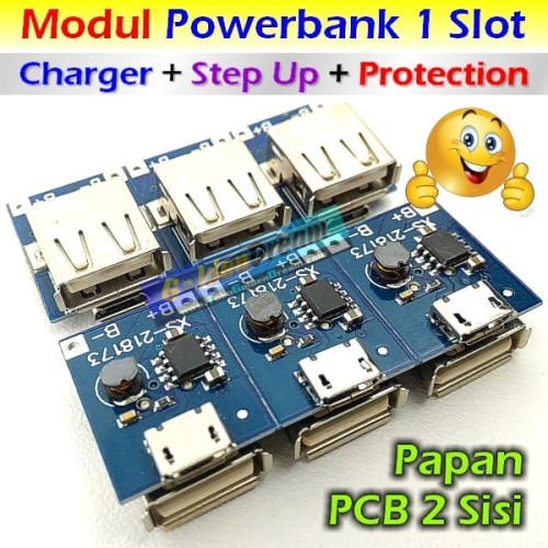 Foto Produk Modul Powerbank 1 Slot Multi Charger + Step Up + Protection 5v 1A Cas dari Golden Dream