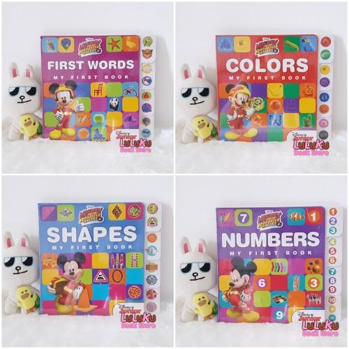 Foto Produk Buku Edukasi Anak - Disney Mickey My First Book ada 4 judul - Shapes dari LuLuKu Book Store