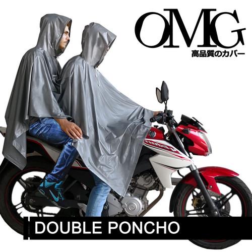 Foto Produk Jas Hujan OMG Poncho Ponco Kelelawar 2 Kepala - Silver dari GrosirOtomotif