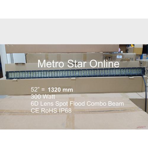 "Foto Produk LED Light Bar 4 Row 52"" 300w 6D Lens Spot Flood Combo Beam dari Metro Star Online"