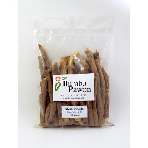 Foto Produk BP003B Akar Manis, Licorice Root 150 gram dari Bumbu Pawon.Id