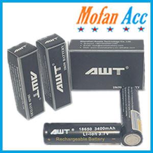 Foto Produk battery awt 18650 3400mah black hitam / batre / baterai dari mofan accesories