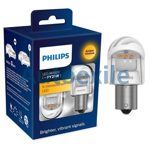 Foto Produk Philips Xtreme Ultinon LED Gen2 S25 PY21W Amber free CANbus Lampu Sein dari Autoexile