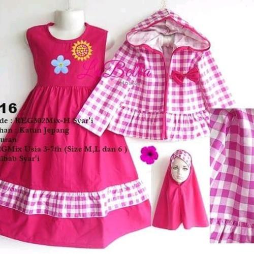 Foto Produk baju setelan anak perempuan pink berkualitas dari moel poetra shop