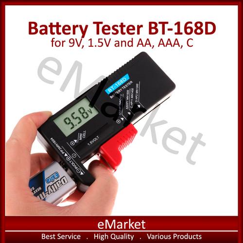 Foto Produk Battery Tester BT-168D Digital 9V, 1.5V, AA, AAA, C Test Cek Baterai dari emarket_id