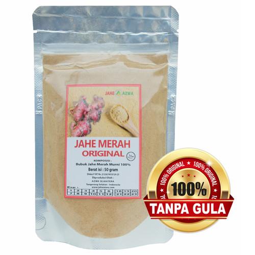 Foto Produk Bubuk Jahe Merah Murni 100% Tanpa Gula dari Jahe Azwa
