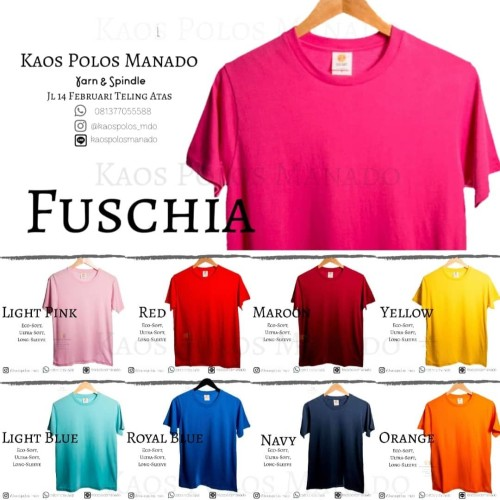 Foto Produk Kaos Polos Oblong ES 100% Cotton 30s Unisex SERI 1 pria wanita - Putih, M dari KaosPolosManado