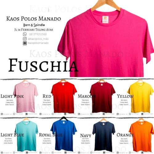 Foto Produk Kaos Polos oblong US 100% COTTON COMBED 30S SERI 2 UNISEX WANITA PRIA - CHARCOAL, S dari KaosPolosManado