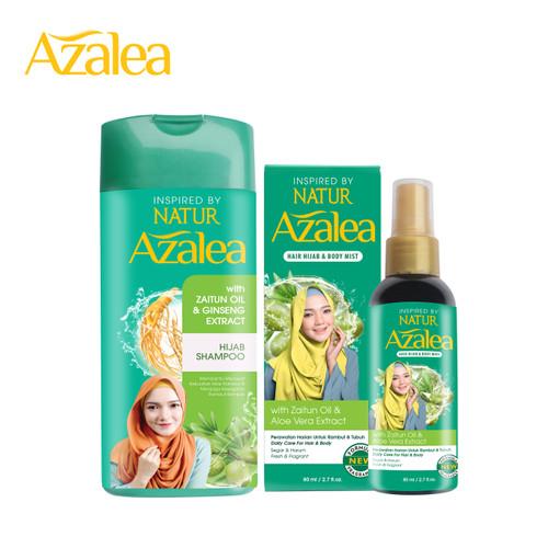 Foto Produk Paket Azalea Shampoo + Azalea Hijab & Body Mist dari AZALEA OFFICIAL STORE