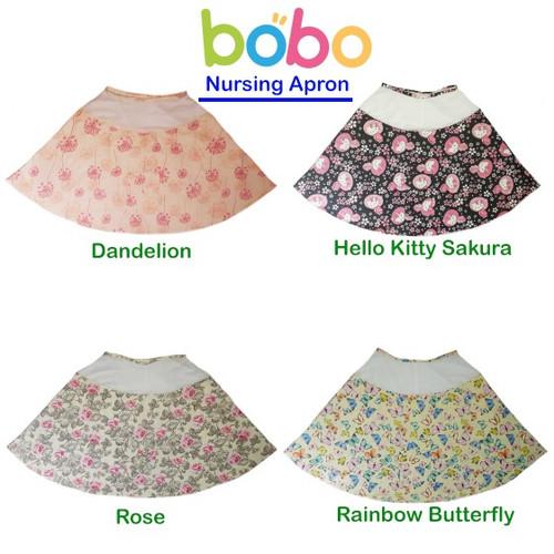 Foto Produk Apron Menyusui Jaring BOBO | Celemek Nursing Apron Bulat dari bobo baby shop