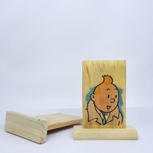 Foto Produk Souvenir TINTIN - Wood Craft, Pajangan Meja Mini dari Jejak Dolan