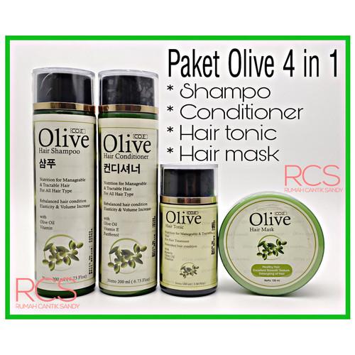 Foto Produk [SYB] PAKET OLIVE 4 in 1 ~ Shampo + Condi + Tonic + Hair Mask dari Rumah Cantik Sandy