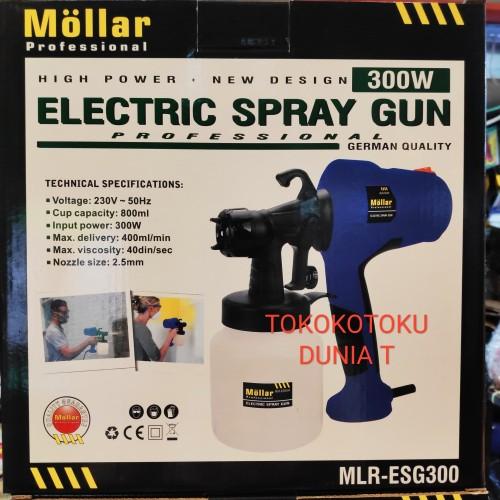 Foto Produk Electric Spray Gun Mollar ESG300 Spray Painter 300Watt Sekelas Ryu dari Tokokotoku