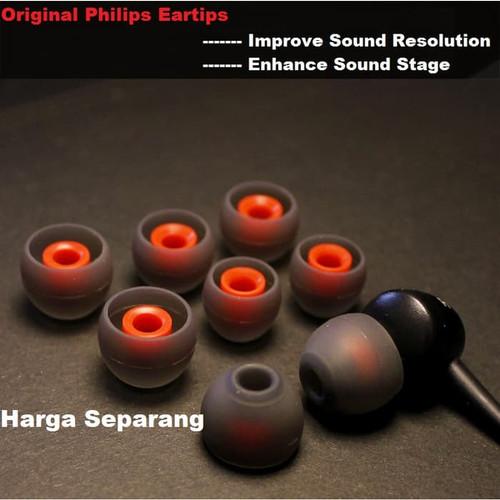 Foto Produk Original Philips SHE9000 Eartips Karet Replacement (Harga Sepasang) - S, Merah dari MAXI BSG OFFICIAL