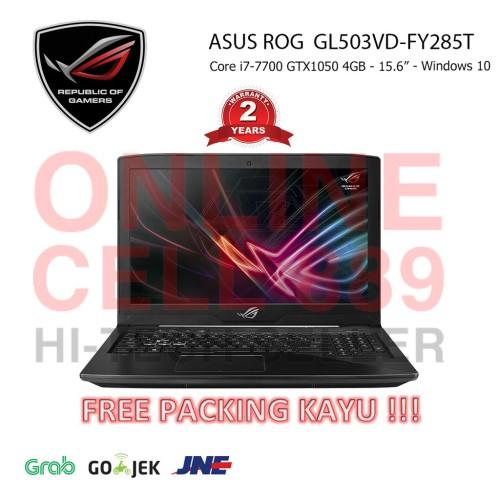 Foto Produk Laptop Gaming ASUS ROG STRIX GL503VD-FY285T I7 8GB GTX1050 WIN10 dari shopciwa