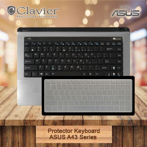 Foto Produk Keyboard Protector Cover Asus A43 A43S A43SA-VX022D A43SA-VX023D Silik dari Clavier