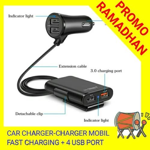 Foto Produk CHARGER MOBIL SUPER FAST CHARGING 3.1A + 4 PORT USB dari Toko Miss Rempong