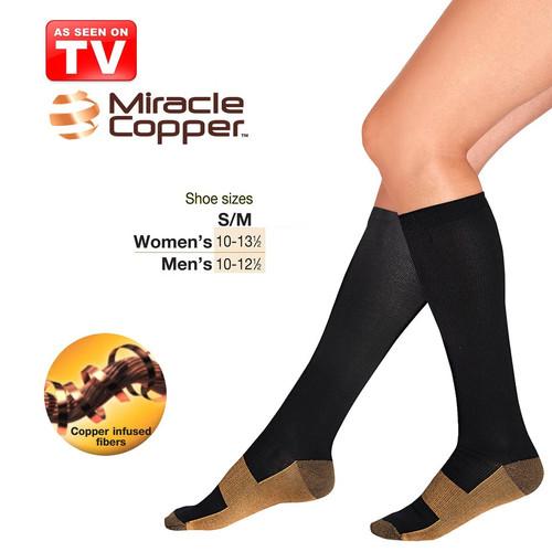 Foto Produk Miracle Copper Socks Stovepipe Healthy S/M Size / Kaos Kaki Kesehatan dari Aura Tiara