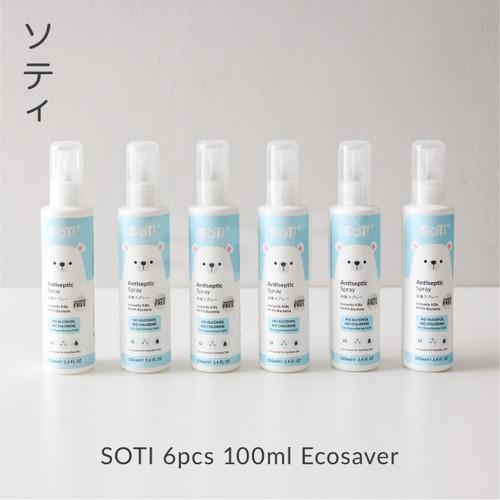 Foto Produk SOTI Antiseptik Spray 6pcs 100ml ECOSAVER dari Soti Baby