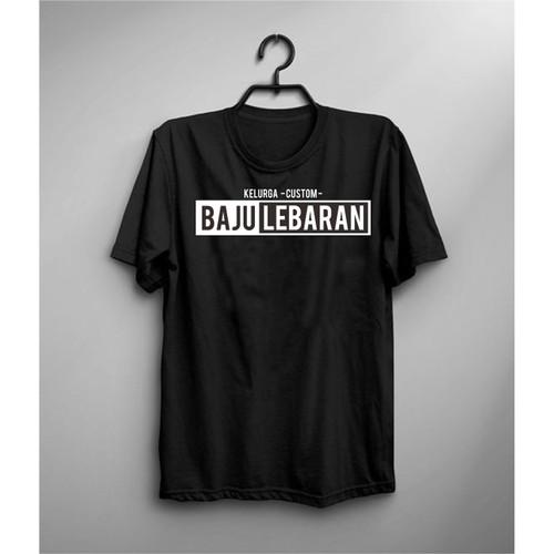 Foto Produk Kaos Baju Lebaran Kelurga CUSTOM - Hitam, S dari air clothing
