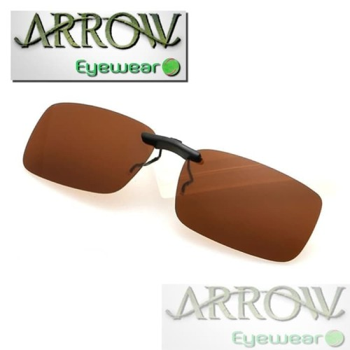 Foto Produk Arrow Polarized Clip On Sunglasses Driving Anti-Uv kacamata hitam - Cokelat Tua dari Milo Acc