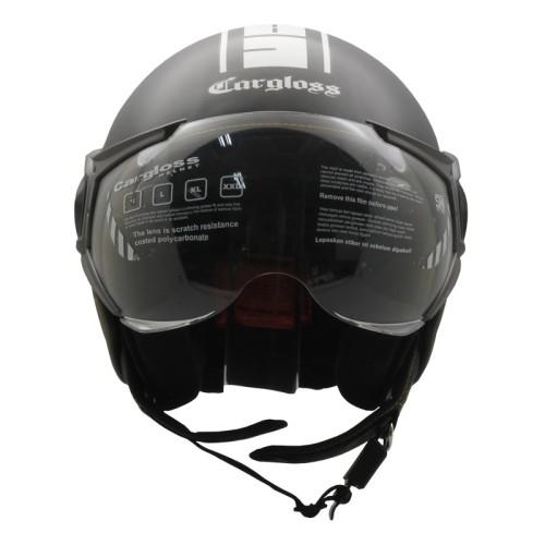Foto Produk Helm Cargloss YR Protect Half Face - Gun Metal SG dari Variasi Motor Speed