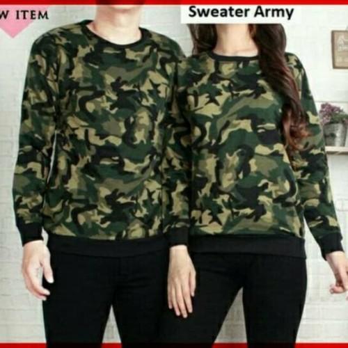 Foto Produk kaos couple army lengan panjang - sweater couple army dari Grosir Baju Couple :)