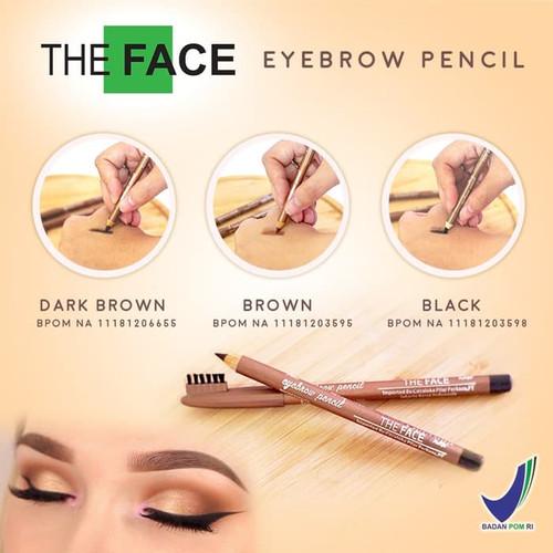 Foto Produk THE FACE EYEBROW PENCIL - PENSIL ALIS THE FACE BPOM - BLACK dari BENS kosmetik