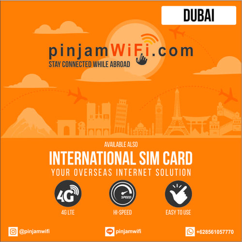 Foto Produk Sim Card Dubai (UAE) 3 GB for 30 Days | Simcard Dubai UAE dari Pinjam WiFi