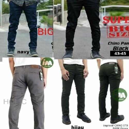 Foto Produk Celana Pria Chino HITAM SUPER BIG SIZE-BLACK-JUMBO-42-43-44-45 dari sepatu azer