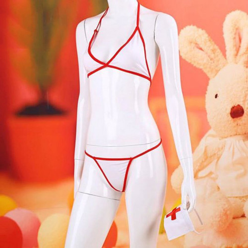 Foto Produk L-271 - Lingerie Bikini Nurse Costume with Variants dari Lingerie X Lingerie