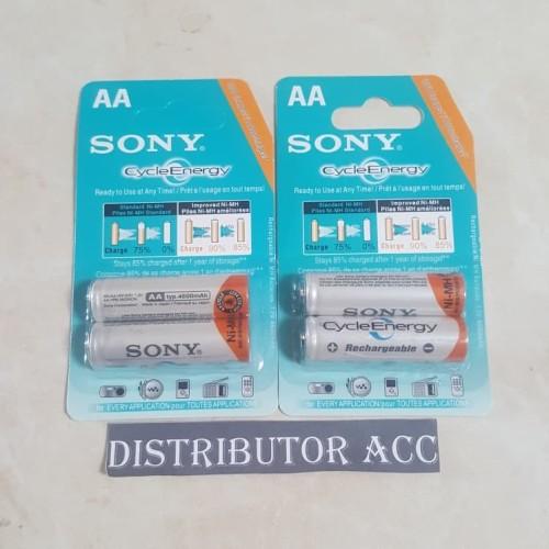 Foto Produk Isi 2 Baterai Cas SONY AA - A2 / Baterai Charger SONY AA 4600 Mah dari DISTRIBUTOR ACC