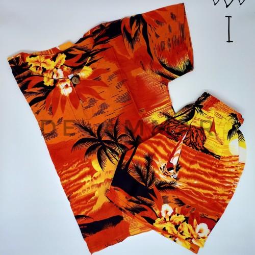 Foto Produk Setelan Baju Pantai Anak Laki-Laki Baju Anak Cowok Rayon Bali kode I - No 1 usia 1-3 dari Bhatara Collections