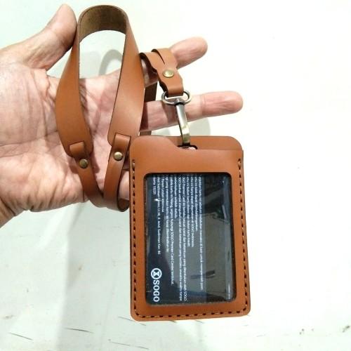 Foto Produk Id Card Name tag Kulit Asli Card Holder Custom Nama/ Logo dari Fruna Phonsel