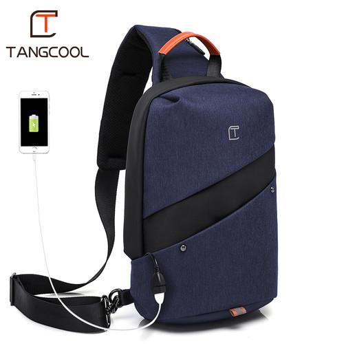 Foto Produk TangCool Tas Selempang Pria with USB Charger Port TC907 - Biru dari EliteGen