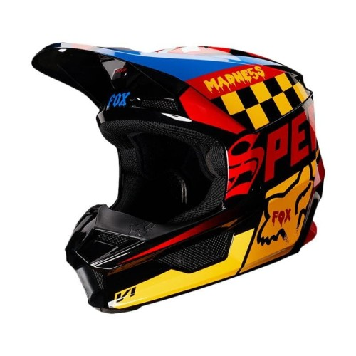 Foto Produk Fox V1 Czar Helmet Helm Motocross - Black Yellow 21778-019 dari Lamtotamastore