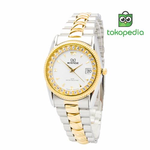 Foto Produk Mirage Jam Tangan Wanita Rx Comb Silver/Gold/White dari Mirage Watch