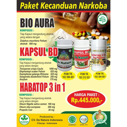 Foto Produk Obat Herbal Mengobati Pecandu / Kecanduan Narkotika Tanpa Rehabilitasi dari Toko De Nature Ampuh