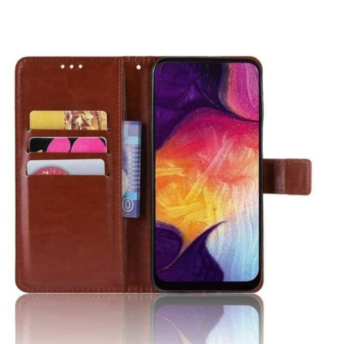 Foto Produk Leather Case Wallet Oppo A7 / Flip Cover Kulit Oppo A7 dari abadi8888